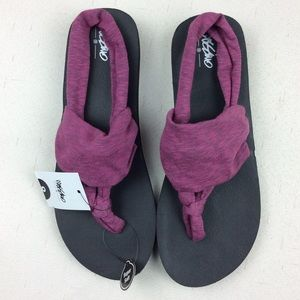 6f4d85e831de Mossimo Purple Heather Slip On Tashi Sling Thongs